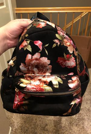 Torrid Black Floral Slouchy Suade Mini Backpack for Sale in Murrieta, CA
