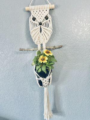 Large Owl Macrame Plant Hanger for Sale in Oceanside, CA