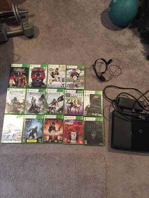 XBOX 360 w/ headset & games for Sale in Everett, WA