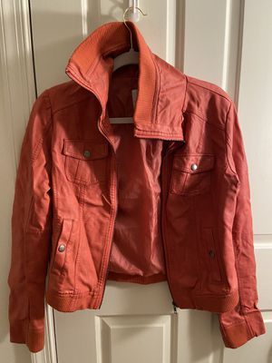 Pink/red faux-leather jacket for Sale in Arlington, VA
