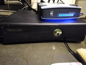 Xbox 360 with external hard drive 2 controllers and over 30 games for Sale in Wichita, KS