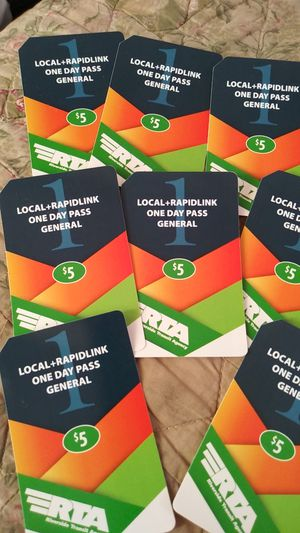 8 local rapidlink one day pass for Sale in Riverside, CA