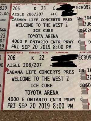 WELCOME TO THE WEST 2019 ICE CUBE , BONE THUGS , RODDY RICH , DOM KENNEDY for Sale in Monrovia, CA