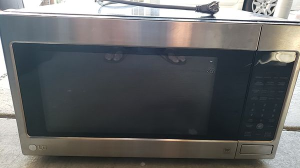 LG oversized microwave