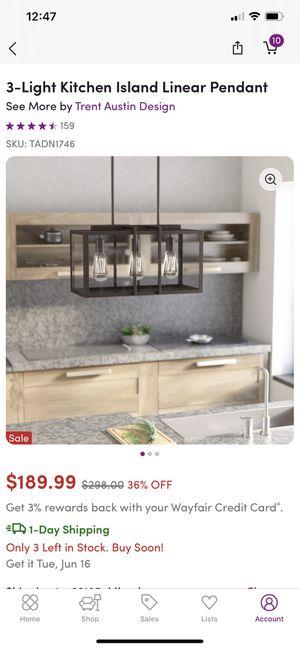 3-Light Kitchen Island Linear Pendant for Sale in Miami, FL