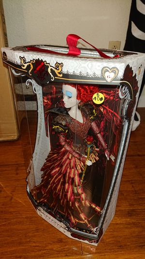 Disney Alice in Wonderland Red Queen detailed collector doll New in box for Sale in La Mesa, CA