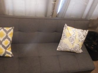 Couch, Pillow , And Foot Stool for Sale in Columbus,  OH