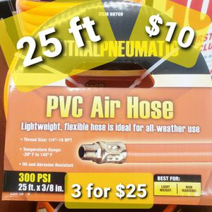 Brand NEW 25 Ft Air Hose SAFETY ORANGE for Air Compressor ☆Buy 2, GET ONE FREE☆ for Sale in La Puente, CA