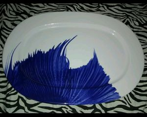 Beautiful Serving Plate Blue & White Ikea for Sale in Queens, NY