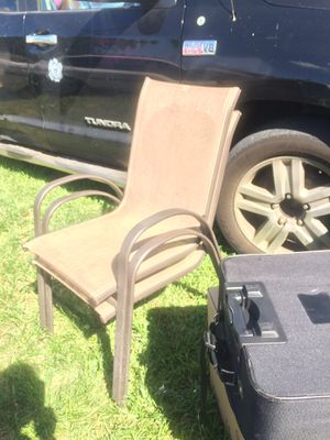 Patio outdoor chairs $10 ea 2/$15 for Sale in Davie, FL