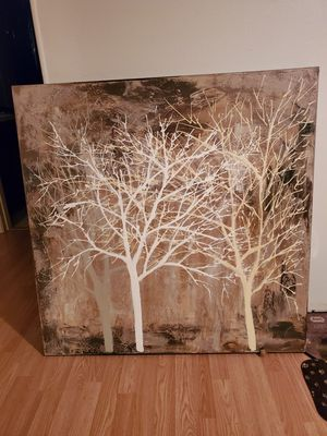 Trees wall painting, home decor 39 by 39 inches for Sale in Sebring, FL