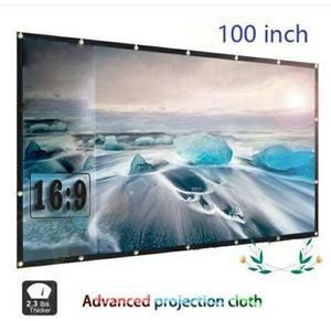 Brand New 100 Inch Portable Projection Screen 16:9 Foldable for Home Theater Cinema Indoor for Sale in Detroit, MI