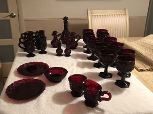 Avon Ruby Red Glass for Sale in Bethel Park, PA
