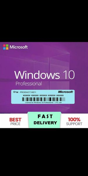 Microsoft Windows 10 Professional Pro 32/64 bit Product Key Activation!! for Sale in Jurupa Valley, CA