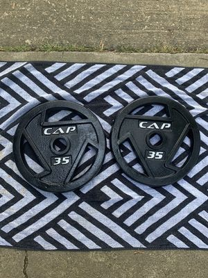 CAP Barbell Weight Plates 35lb Pair for Sale in Springfield, VA