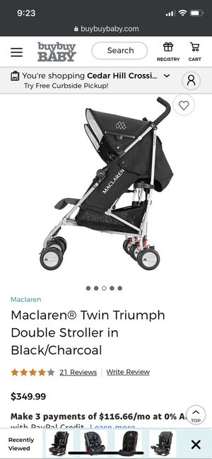 Maclaren Double Stroller for Sale in Portland, OR