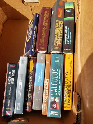 Box of engineering books for Sale in Buffalo, NY
