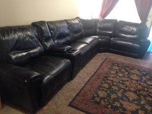 Leather Sectional with recliners for Sale in Vancouver, WA