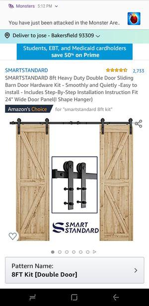 8ft heavy duty barn sliding door kit for Sale in Bakersfield, CA