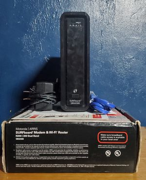 ARRIS SURFboard SBG6580 DOCSIS 3.0 Cable Modem/ Wi-Fi N300 2.4Ghz + N300 5GHz Dual Band Router for Sale in Immokalee, FL