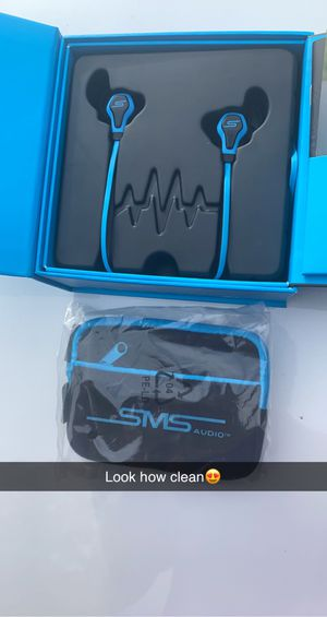 SMS electric blue workout headphones for Sale in Lowell, MA