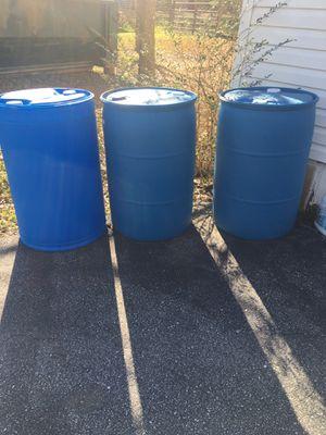 3 , 55 gallon food grade barrels for Sale in Travelers Rest, SC