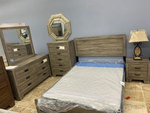 Crown Mark Panel bedroom set (twin, full, queen and king size bed options) for Sale in Houston, TX