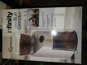 Capresso infinity conical burr grinder for Sale in Los Angeles, CA