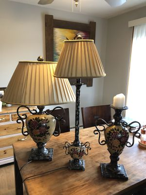 Lamp and candle set for Sale in Northbrook, IL