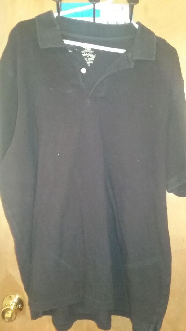 Men's black polo shirt size 2xl