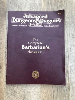 2nd edition D&as The complete Barbarian's Handbook 2148 for Sale in Las Vegas, NV