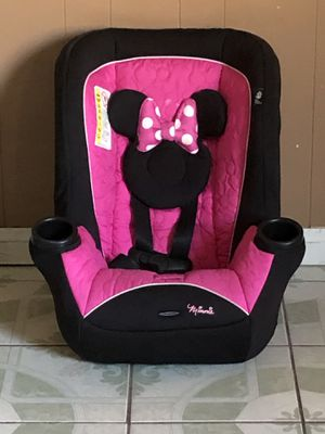 PRACTICALLY NEW MINNIE MOUSE CONVERTIBLE CAR SEAT for Sale in Riverside, CA