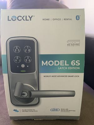 Lockly Model-S SatinNEW LOCKLY MODEL 6S Satin Nickel Smart Touchscreen Keypad Door Latch Lock with Bluetooth for Sale in Detroit, MI