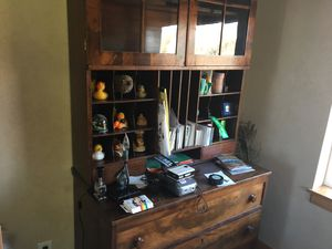 Antique walnut hutch / armoire with secretary desk for Sale in Salt Lake City, UT