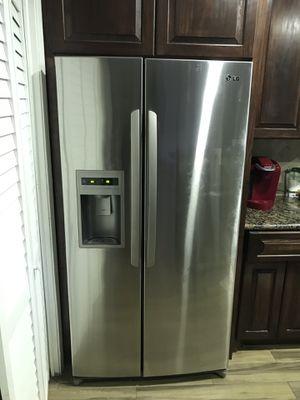 LG fridge stainless steel freezer for Sale in Houston, TX