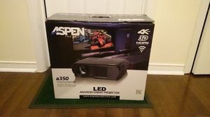 Brand 3D 4K projector with surround sound system and remote controlled 72in screen. for Sale in Washington, DC