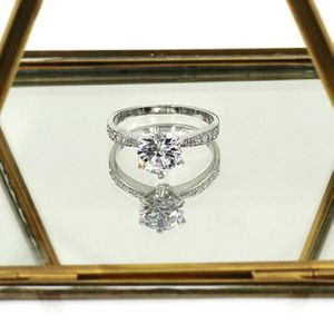 Silver classic six-claw crystal ring for Sale in Redwood City, CA