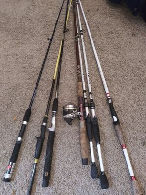 Fishing poles - some good and some damaged for Sale in Houston, TX