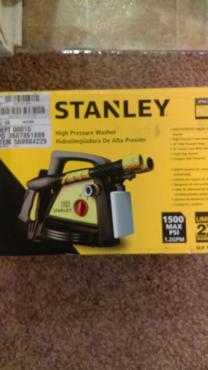 Stanley high pressure washer 1500 Max psi for Sale in Indianapolis, IN