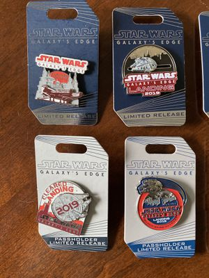 7 total Star Wars galaxys edge limited release pins for Sale in Zephyrhills, FL