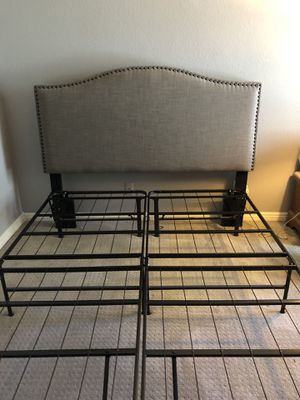 Bed frame & head board QUEEN head board or frame-2 TWIN for Sale in Long Beach, CA