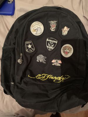 Authentic Black Ed Hardy backpack for Sale in Houston, TX