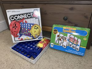 Connect Four and children spelling puzzles $3 EACH or both for $5 for Sale in Sacramento, CA