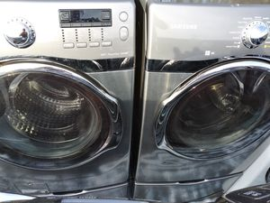 2019 almost like new never been used Samsung's best washer and matching dryer set these cost about $2,800 out there for Sale in Grand Prairie, TX