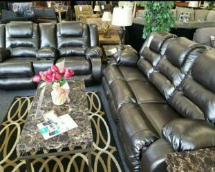 Vacherie Black Reclining Living Room Set 🔆 Sofa and Loveseat for Sale in Round Rock,  TX