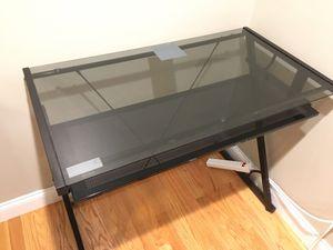 Black Glass Top Desk for Sale in Boston, MA