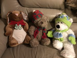 Christmas stuffed animals. for Sale in Hendersonville, TN