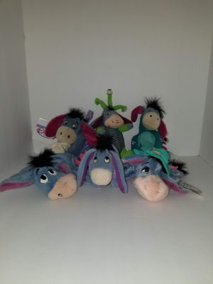 "Eeyore 6"" bean bag plushes for Sale in Tacoma, WA"