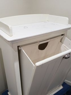 White Wood Pottery Barn Clothes Hamper for Sale in Henderson,  NV