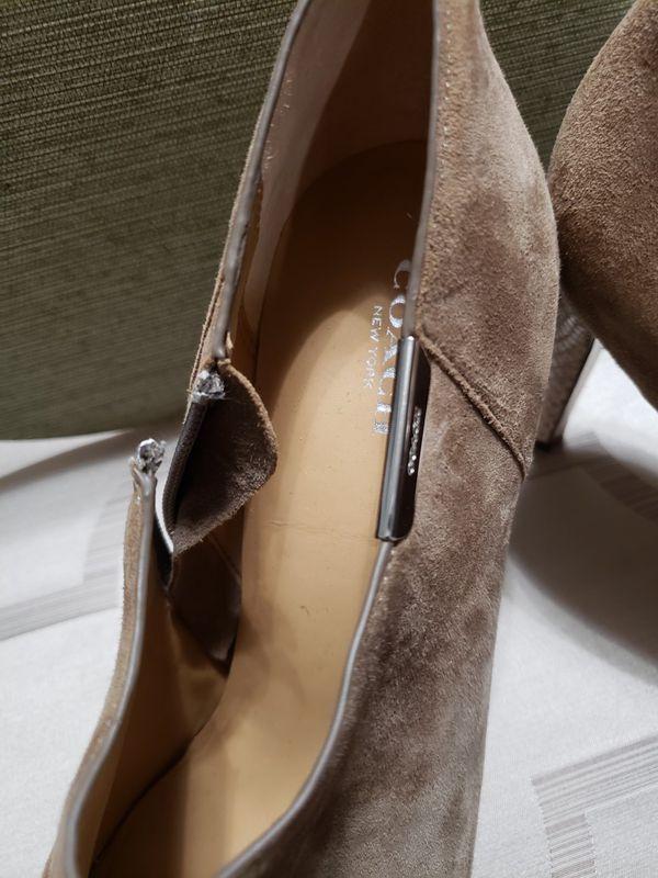 Taupe Coach Seneca booties - size 10